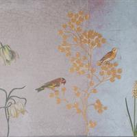 """Konsolentisch mit Spiegel """"Vogelwelt"""""""