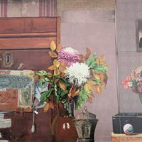 Stillleben mit Blumenvasen