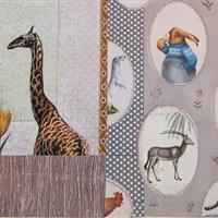 """Großer Puppenschrank """"Tierporträts"""""""